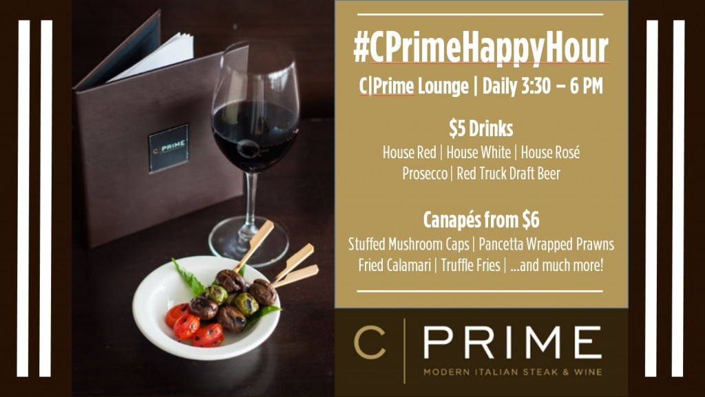 Happy Hour ($6 canapes) updated 12-21-15